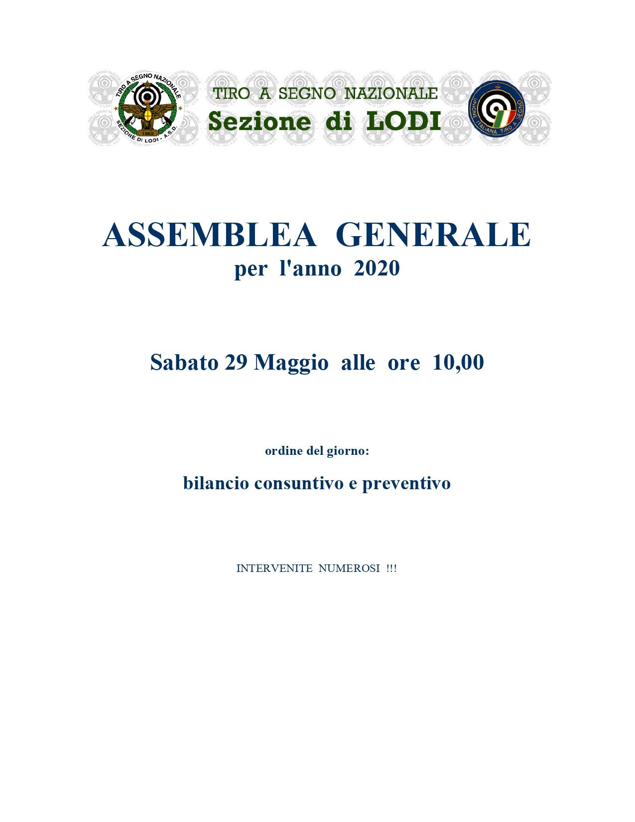 Assemblea generale 2020